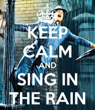 Singing in the rain at Cortijo El Guarda